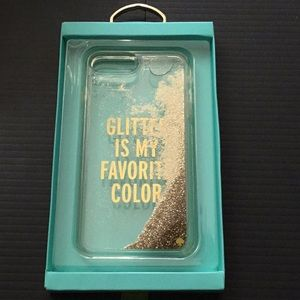Kate Spade Liquid Glitter iPhone 7+ Phone Case (A)